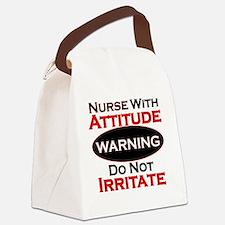 Attitude nurse copy Canvas Lunch Bag
