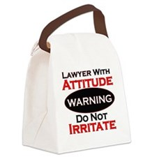 Attitude lawyer  Canvas Lunch Bag