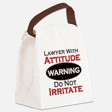Attitude lawyer  Canvas Lunch Bag