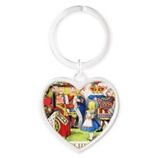 ALICE_OFF WITH HEAD_GOLD Heart Keychain