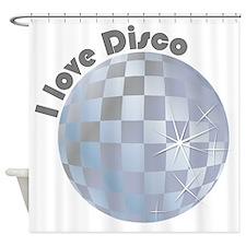I love Disco Shower Curtain