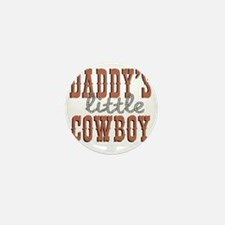Daddys Little Cowboy Mini Button