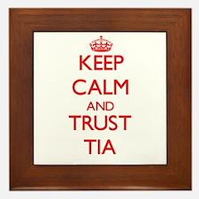 Keep Calm and TRUST Tia Framed Tile