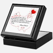 Red Thread on White Keepsake Box