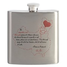 Red Thread on White Flask