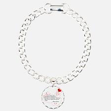 Red Thread on White Bracelet
