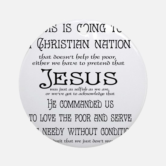 Christian Nation Round Ornament