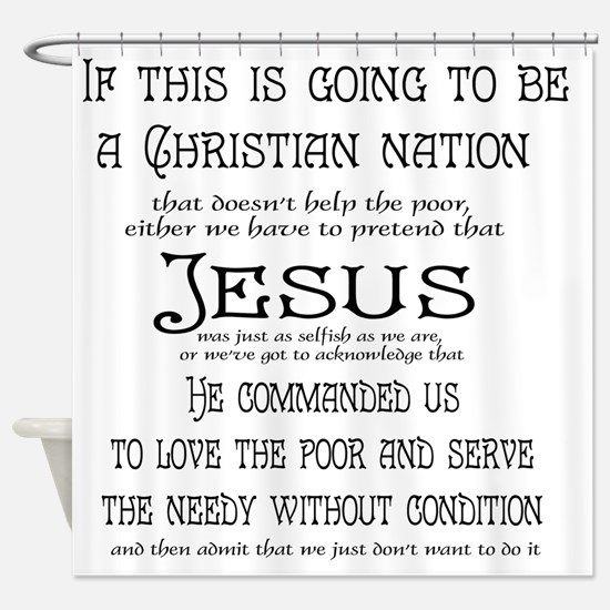 Christian Nation Shower Curtain