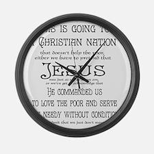 Christian Nation Large Wall Clock