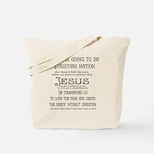 Christian Nation Tote Bag