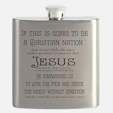 Christian Nation Flask