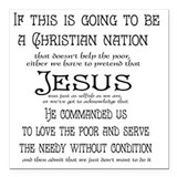 Christian nation Square Car Magnets
