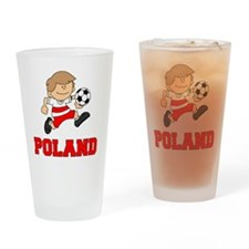 Poland Football (Soccer) Drinking Glass