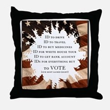 IDs for everything - Voter ID t-shirt Throw Pillow