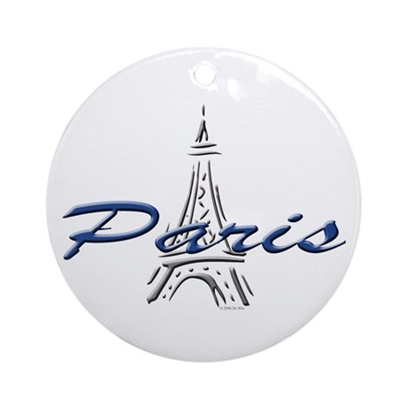 Paris: Eiffel Tower Ornament (Round)