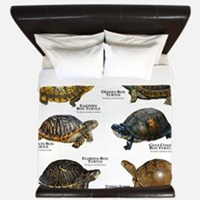 Box Turtles of North America King Duvet
