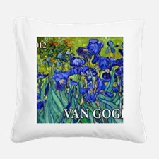 Cal Cover VG Irises Square Canvas Pillow