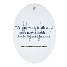 """...truth is with Ali"" Oval Ornament"