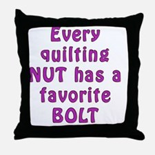 Nut bolt 10x10 Throw Pillow