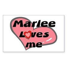 marlee loves me Rectangle Decal