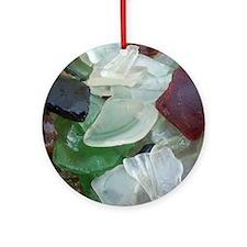 glass flip flop copy Round Ornament