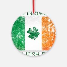 america - irish parts Round Ornament