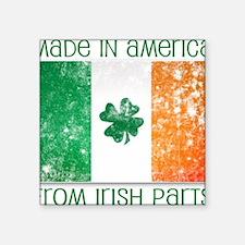 "america - irish parts Square Sticker 3"" x 3"""