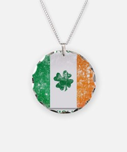 america - irish parts Necklace Circle Charm