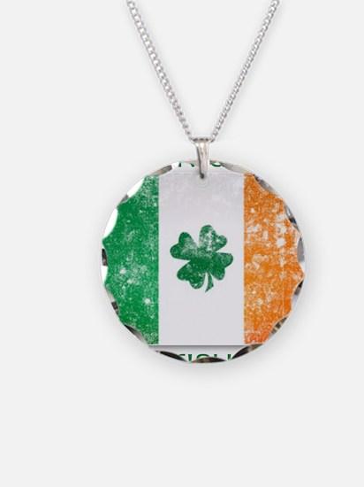 america - irish parts Necklace Circle Charm