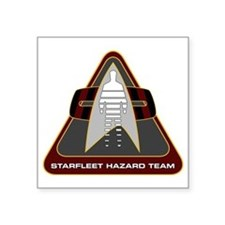 "StarfleetHazardTeamCustomLo Square Sticker 3"" x 3"""
