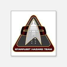 "StarfleetHazardTeamCustomLo Square Sticker 3"" x 3"""