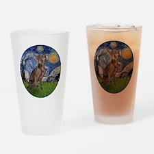 R-Starry-Weimaraner Drinking Glass