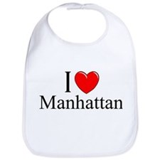 """I Love Manhattan"" Bib"