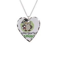 Owl12KGreen Necklace Heart Charm