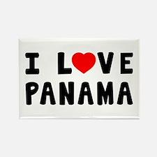 I Love Panama Rectangle Magnet