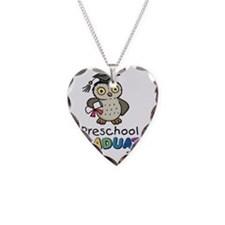 Owl12PrePrim Necklace Heart Charm