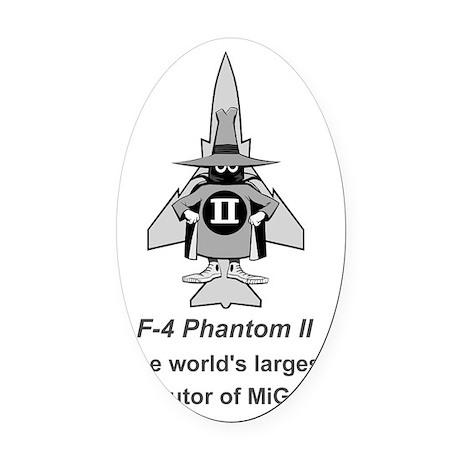 F-4 Phantom II Spook - MiG Parts # Oval Car Magnet