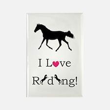 i_love_riding2 Rectangle Magnet