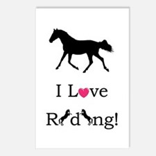 i_love_riding2 Postcards (Package of 8)
