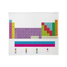periodic_table_dark Throw Blanket