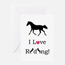 i_love_riding2 Greeting Card