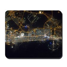 Dubai At Night From Space Mousepad
