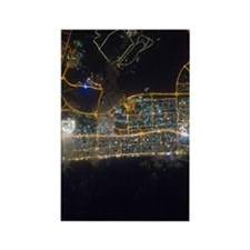 Dubai At Night From Space Rectangle Magnet