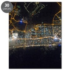 Dubai At Night From Space Puzzle