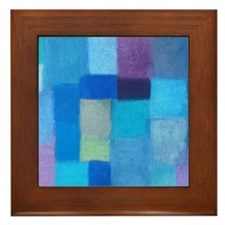 blanket Winter Framed Tile