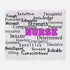 nurse describing PINK Throw Blanket