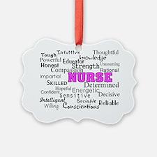 nurse describing PINK Ornament