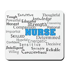 nurse describing blue Mousepad