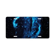 Cygnus Loop Nebula Aluminum License Plate