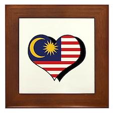I Love Malaysia Framed Tile